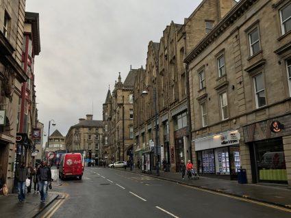 huddersfield town center street buildings