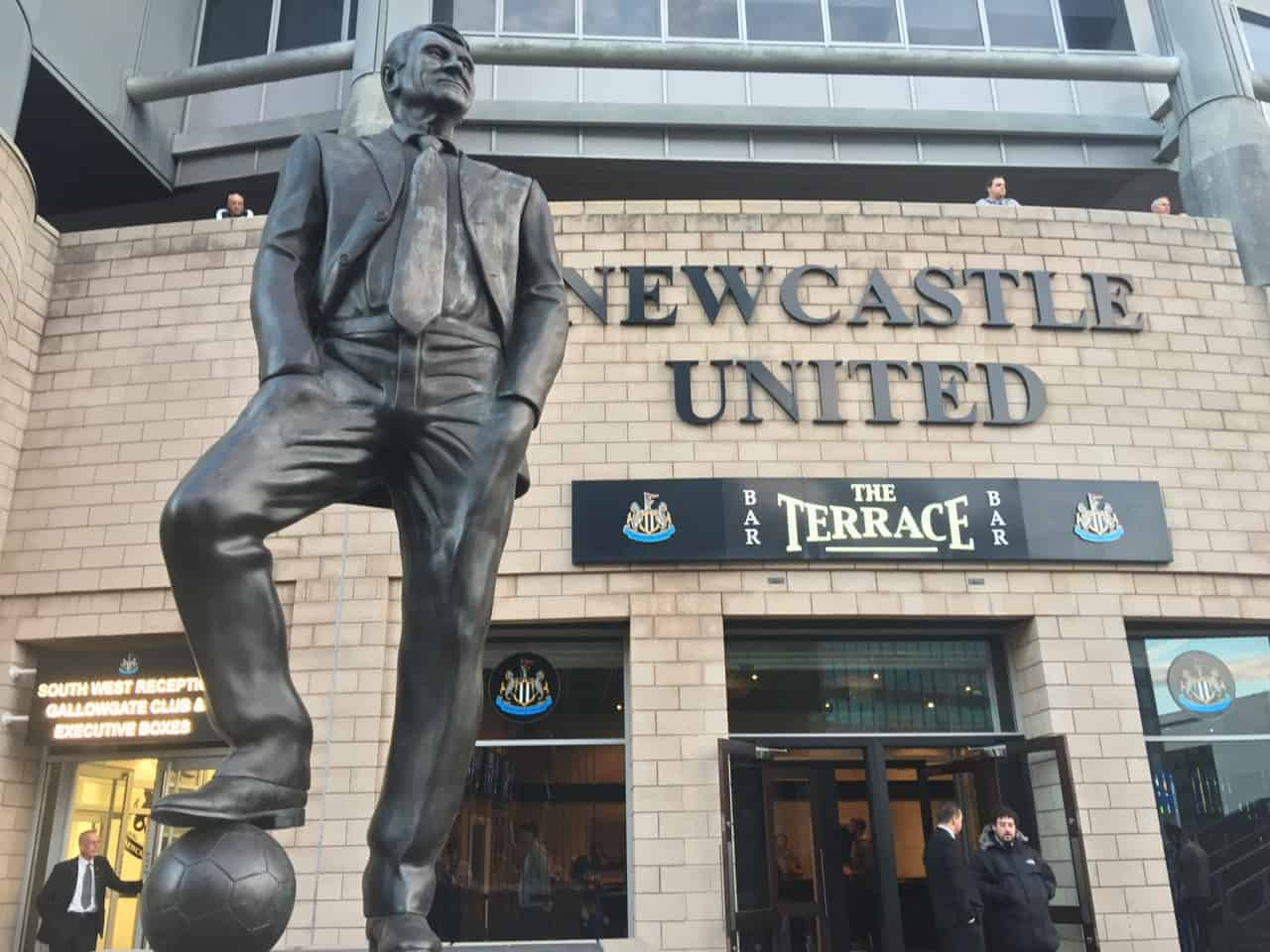 Sir Bobby Robson statue at Newcastle United St. James Park