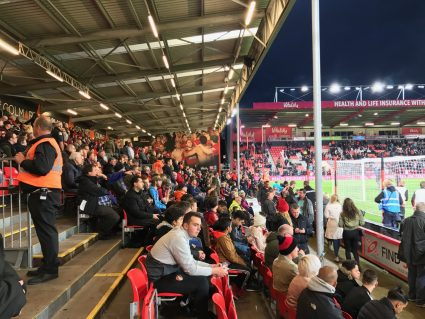 fans in seats at Vitality Stadium Bournemouth