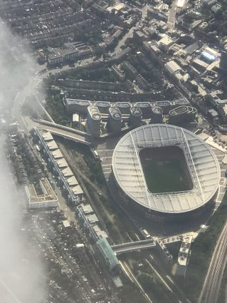 The Emirates Stadium Arsenal FC London aerial view