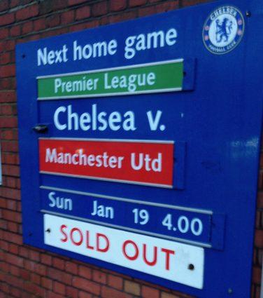 sold out chelsea v man utd sign