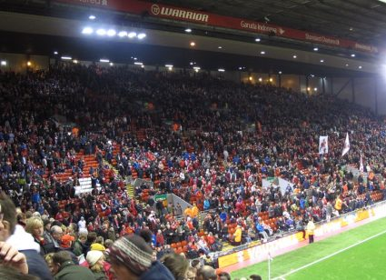 full Anfield stadium for liverpool home game