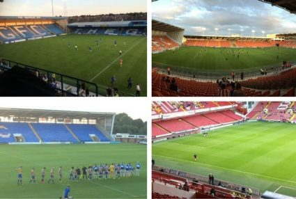 collage of lower league stadiums