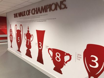liverpool man u rivalry anfield walk of champions