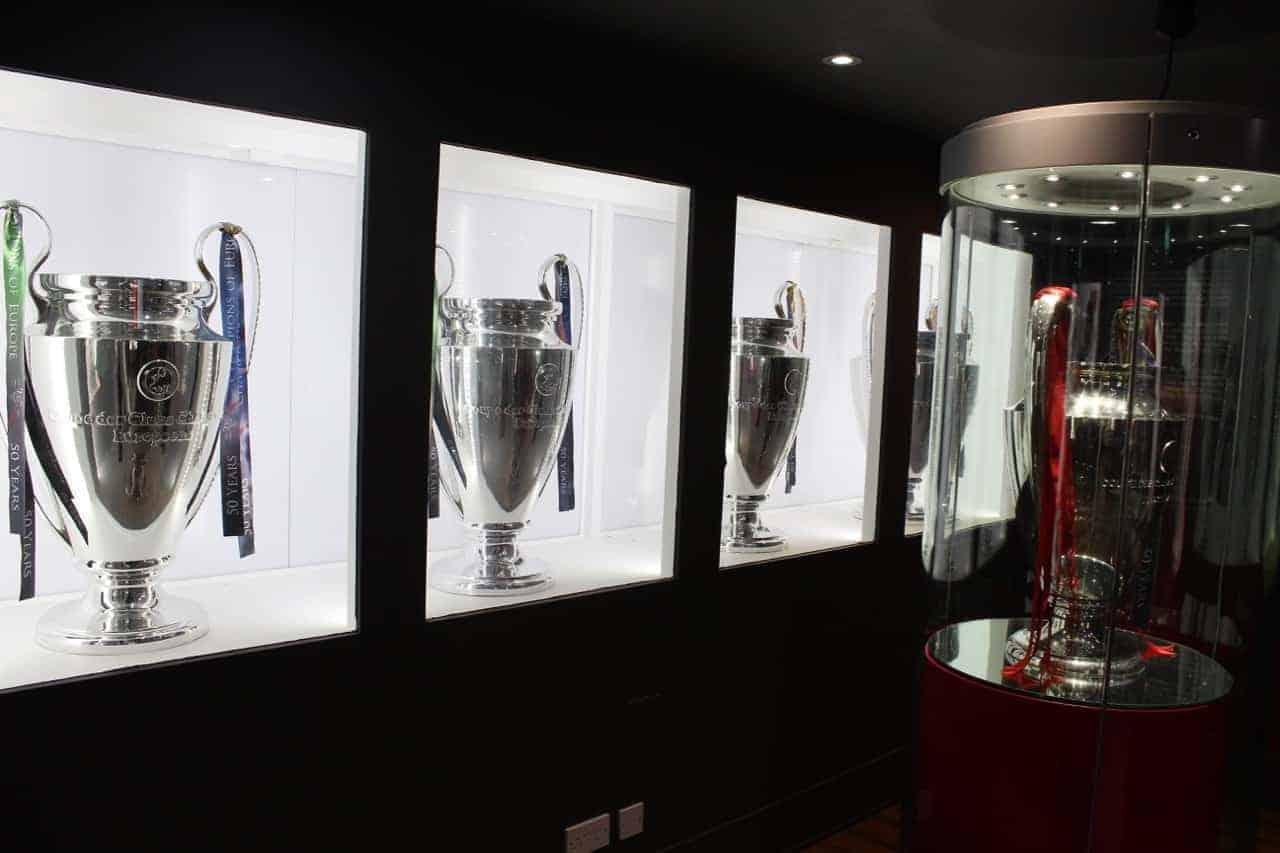Liverpool's five European trophies champions league