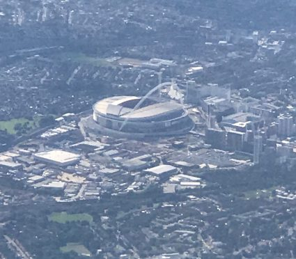 aerial view Wembley Stadium