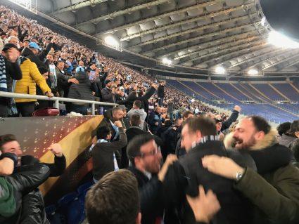 fans celebrating Lazio goal