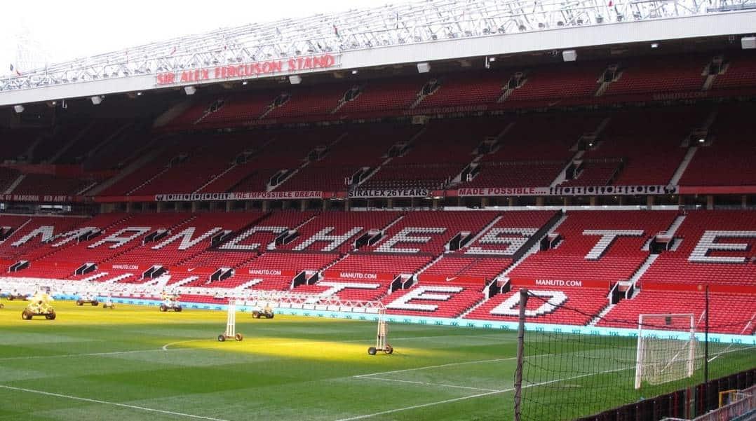 empty manchester united stadium