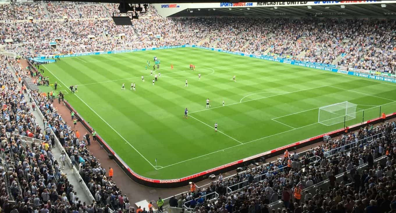 view from Newcastle United St James Park hospitality seats