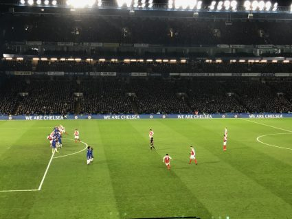 view of free kick from chelsea tickets and hospitality seats