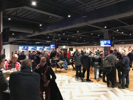 Inside the Anfield Beat hospitality Lounge at Liverpool FC