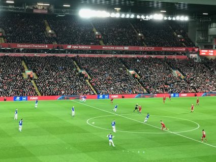 View from Block L12 at Liverpool's Anfield Stadium.