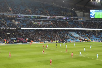 View from inside Etihad Stadium in Man City