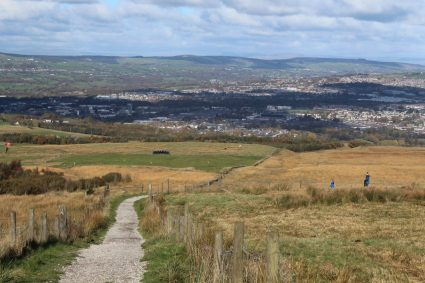 View overlooking Burnley, Lancashire.