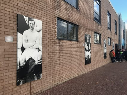 Old photos of former players at Turf Moor, home of Burnley Football Club
