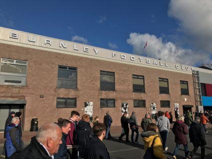 Exterior of Turf Moor, home of Burnley Football Club