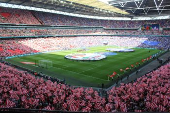 wembley stadium filled with fans