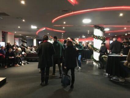 people inside southampton hospitality lounge