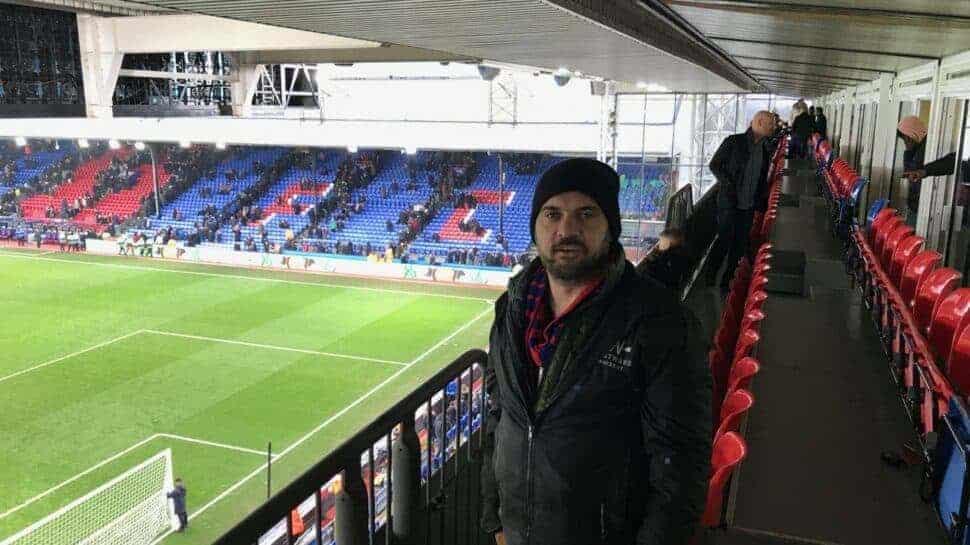 Premier League tickets Crystal Palace fan in hospitality seats