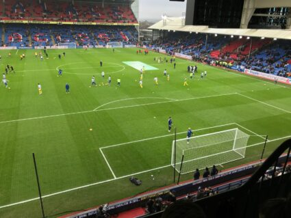 Premier League Crystal Palace tickets view from hospitality suite