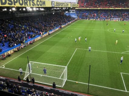 Chelsea Crystal Palace tickets pregame view players on field