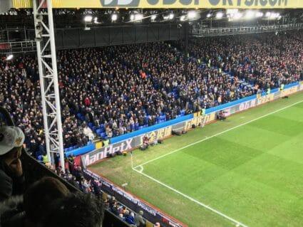 Crystal Palace Selhurst Park Premier League stadium view of away fans