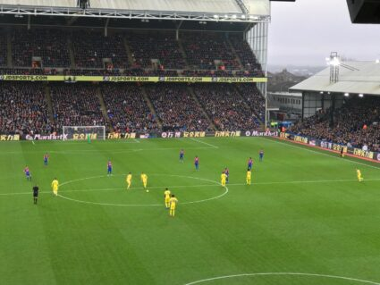 Crystal Palace tickets Selhurst Park view of Premier League game from hospitality seats