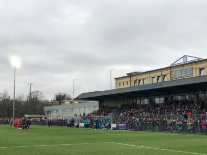 Champion Hill, the home of Dulwich Hamlet FC in South London.