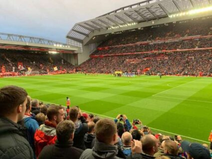 view from inside Liverpool's Anfield