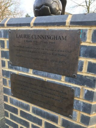 Laurie Cunningham plaque at Leyton Orient FC