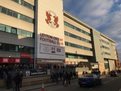 exterior of the stadium at Leyton Orient FC
