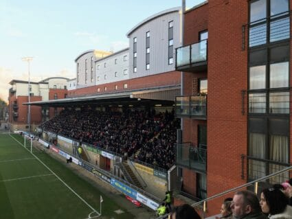 Fans in the stadium at Leyton Orient FC.