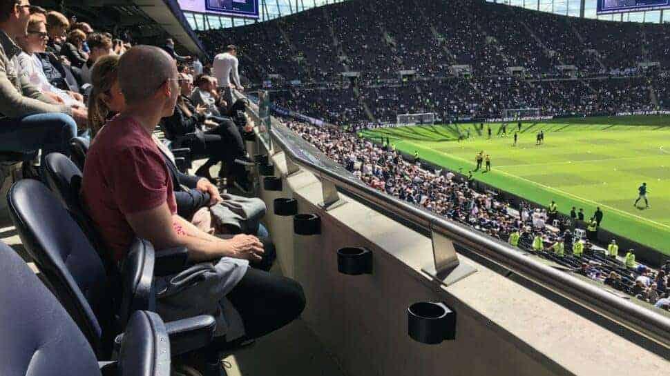 Fans watching a game at Tottenham Hotspur