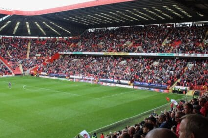 The Covered End at The Valley charlton athletic