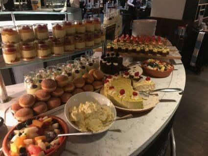 dessert buffet english soccer hospitality