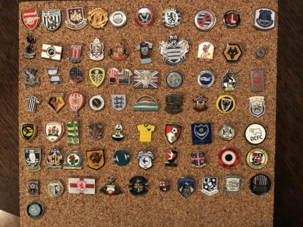 groundhopping english soccer pin badge collection
