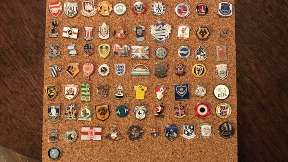 groundhopping pin badge collection