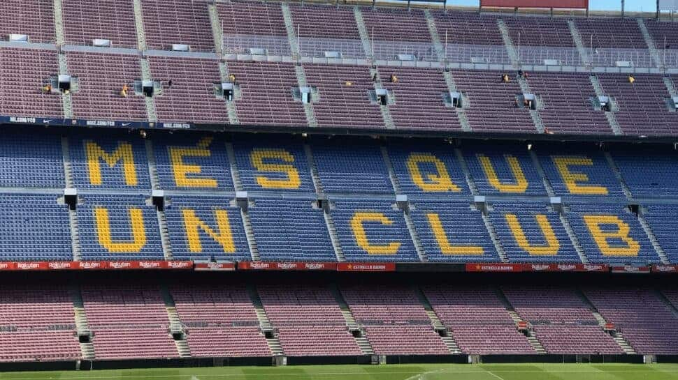 Iconic stand at Camp Nou home of FC Barcelona