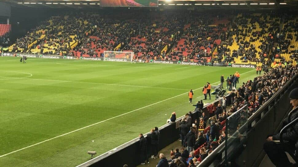 view of the field from Watford tickets & hospitality seats