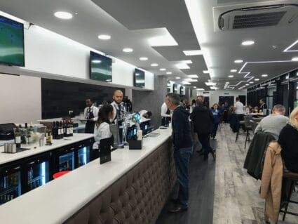 Inside the Horizons hospitality Lounge at Watford FC