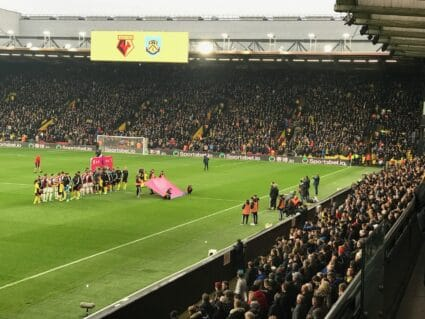 Vicarage Road stadium Watford FC fans