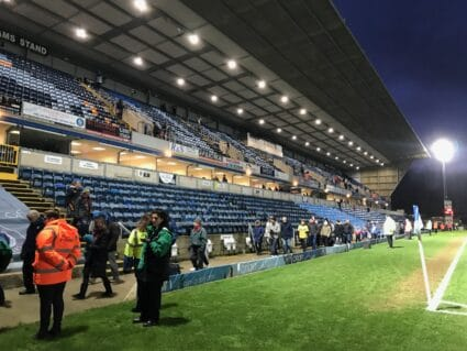 Frank Adams stand at wycombe wanderers