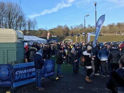 wycombe supporters outside the stadium on game day