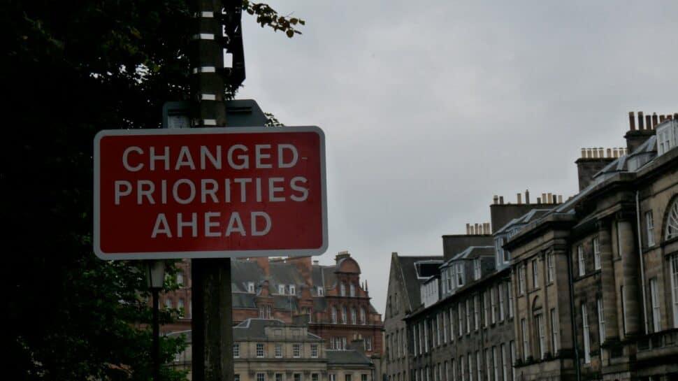 traffic sign changed priorities ahead uk travel coronavirus pandemic