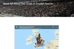 My English Soccer Clubs Page Is Up To Date for 2020-21