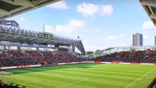 Brentford Community Stadium drawing