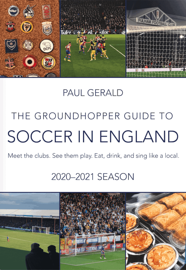 2020-21 Groundhopper Guide to Soccer in England English Soccer Guidebook cover