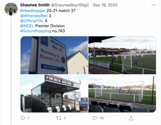 groundhopping 100 grounds club twitter