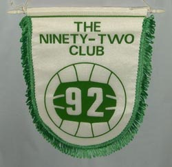 groundhopping ninety two 92 club pennant