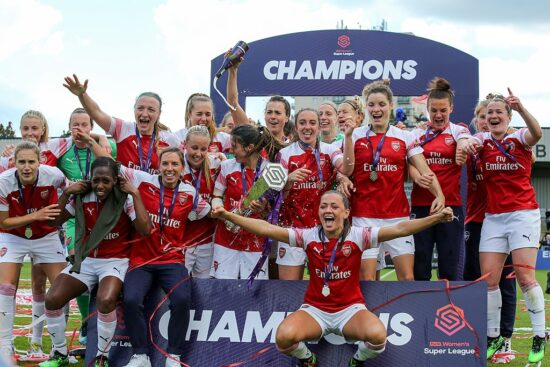 women's football in england arsenal champions